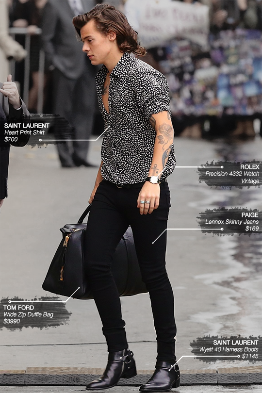 24 Days Of Harry Outfits Day 7 November 20 2014 Arriving For His Appearance At Jiimmy Kimme Mens Outfits Mens Casual Outfits Mens Fashion Casual Outfits