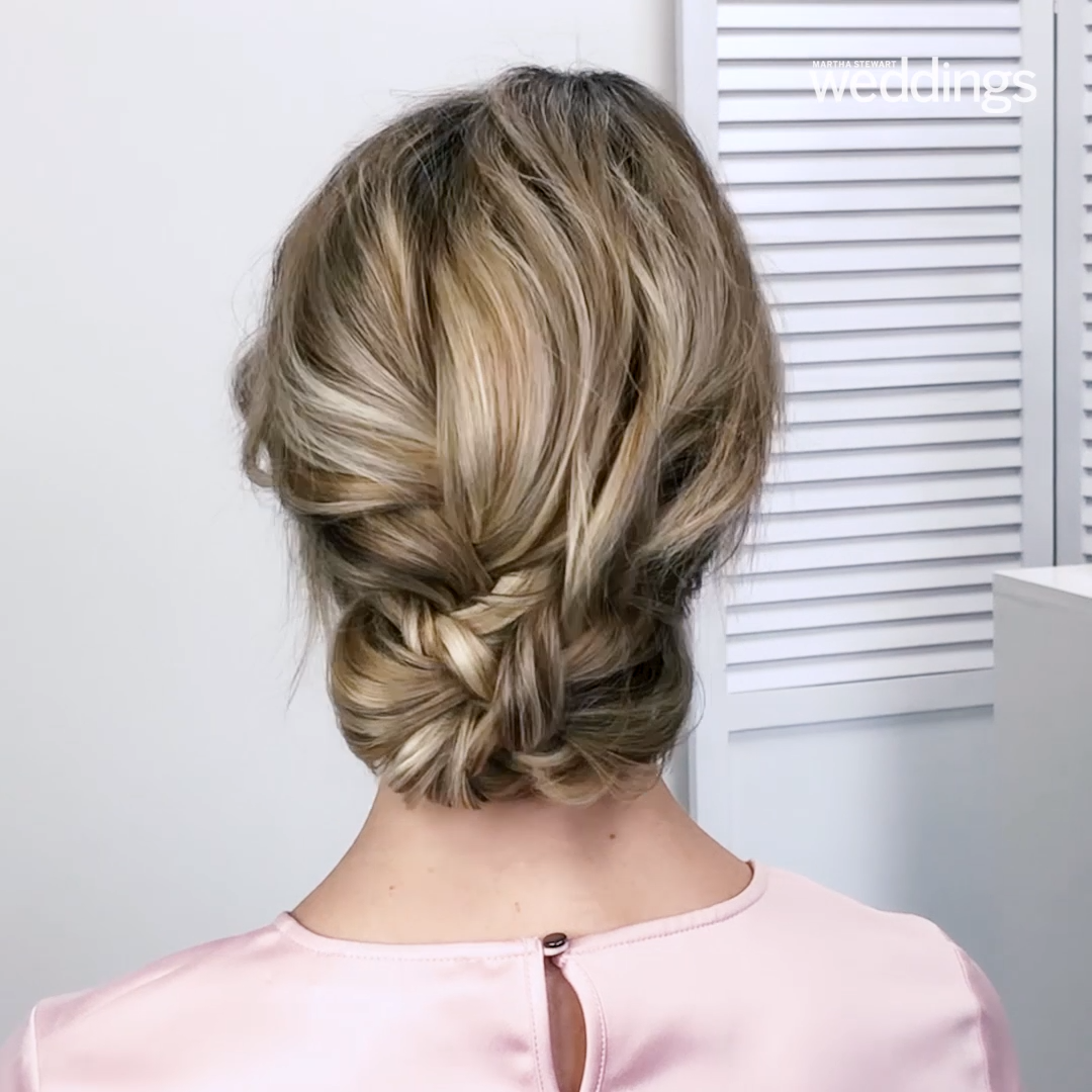 Looking for a way to add a little bit of romance to your wedding hairstyle? Try a braid. The always-in-style accent is the perfect addition to just about any bridal beauty look, whether you're sporting a wispy updo, wearing your hair down, or going for a bold ponytail. #Wedding #WeddingHair #WeddingHairstyle #WeddingBraid #Braid #Video #WeddingInspiration #WeddingBeauty | Martha Stewart Weddings - 25 Braided Wedding Hairstyles We Love