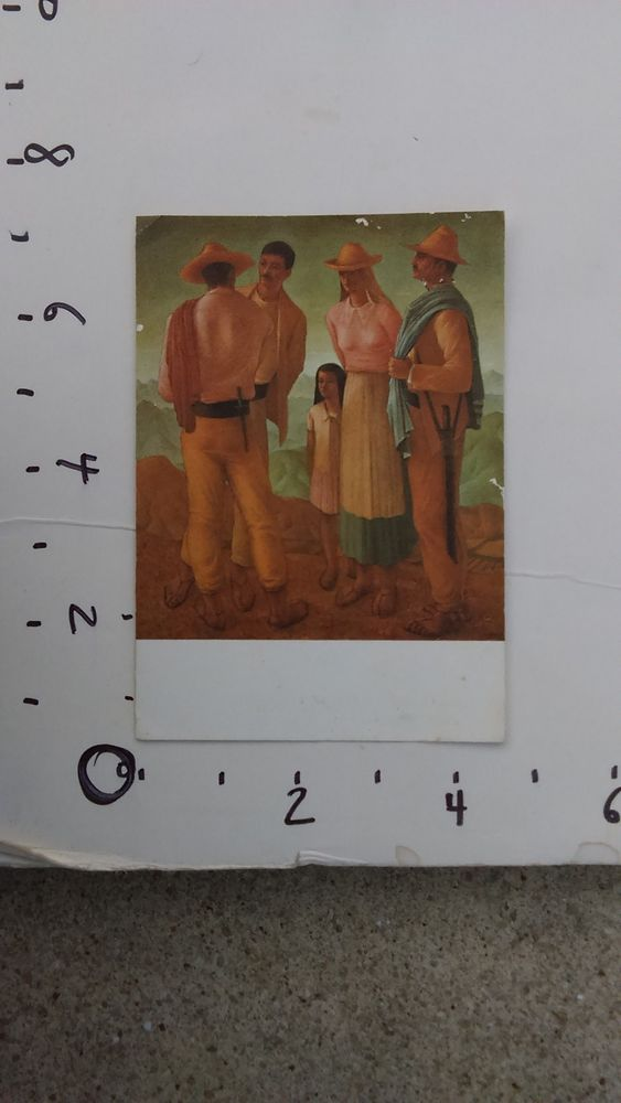Hector poleo andean family latin american artist greeting card m4hsunfo