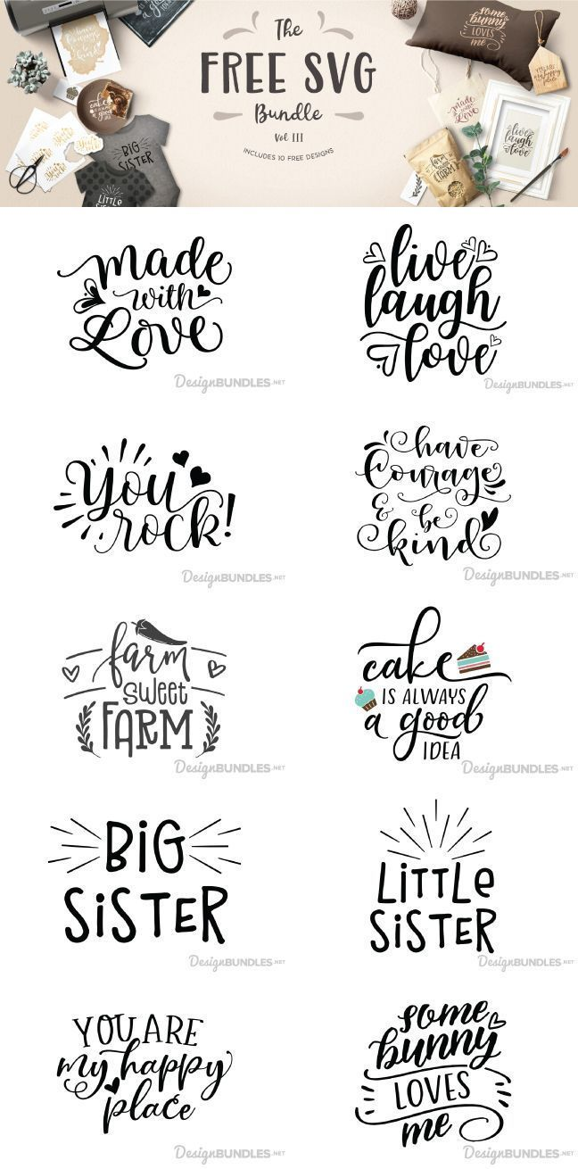 Download for FREE complete with 10 various SVG designs