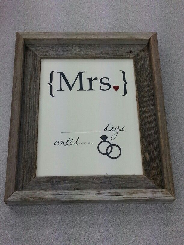 Countdown To Wedding Gifts: Fun Engagement Gift & Wedding Countdown For The Bride