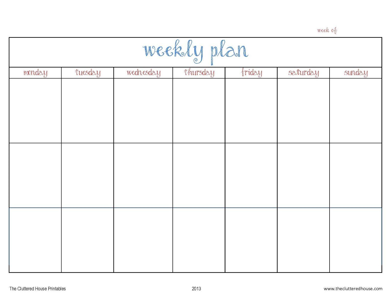 week calendar online