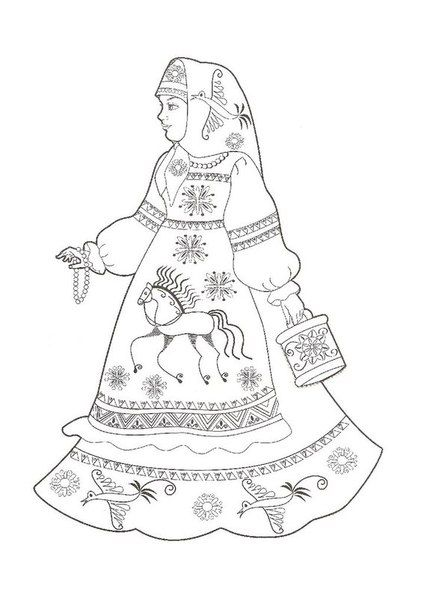 Raskraska Russkaya Krasavica Russian Folk Art Russian Folk Art Design