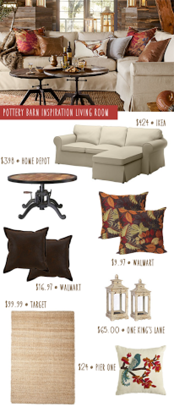 Pottery Barn Inspired Living Room: Get the Look for Less ...