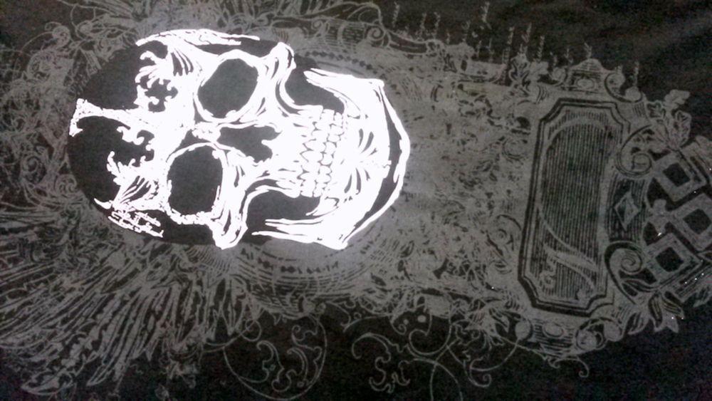 HARD TEN Men T Shirt 3X Black Skull Embellished  100%  Cotton  Short Sleeve  #hardten #GraphicTee