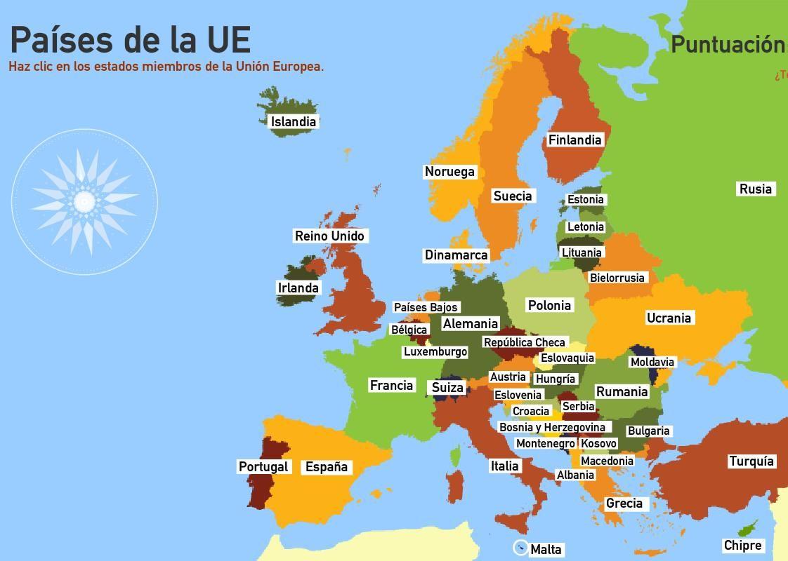 Paisos D Europa Mapa Interactiu.Trabajar Geografia Mediante Mapas Interactivos Mapas