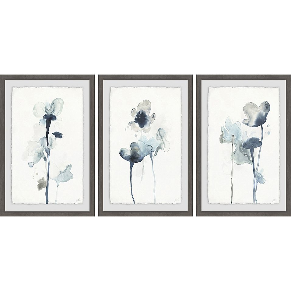 Marmont Hill 3 Piece Midnight Blossoms Iv Framed Wall Art Set Bed Bath Beyond Frames On Wall Framed Wall Art Sets Wall Art Sets