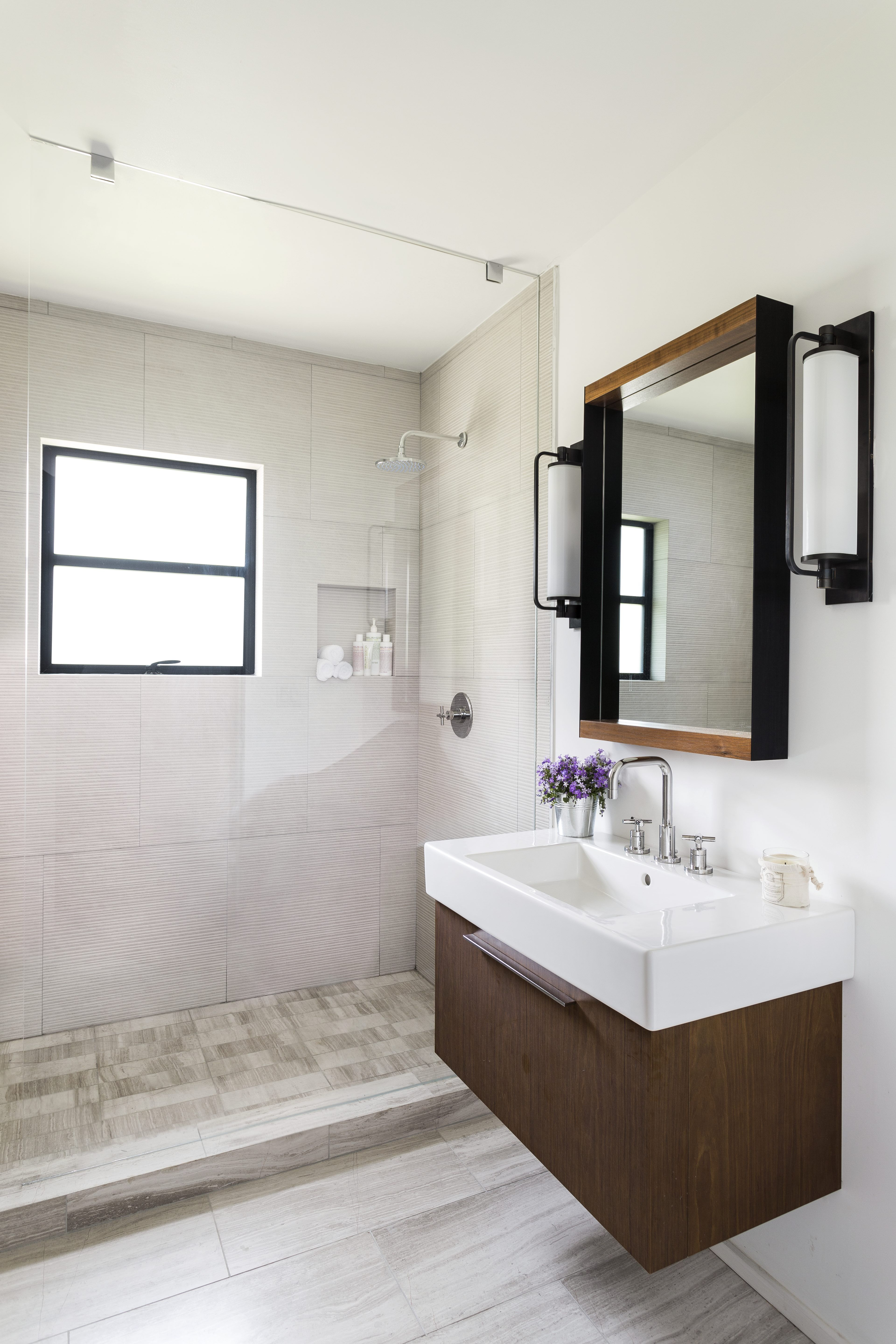 5 Budget-Friendly Bathroom Makeovers | Floating cabinets ...