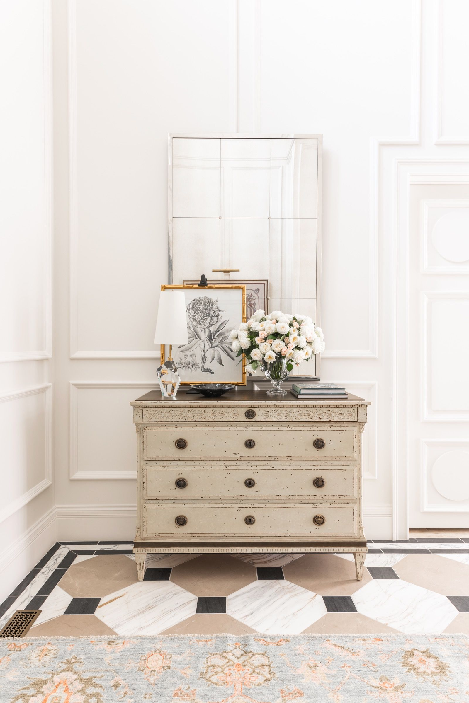 Glam Entryway Table