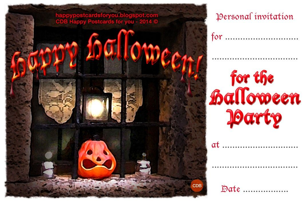 CDB Happy Postcards for You 🎃🎃 Free printable PERSONAL