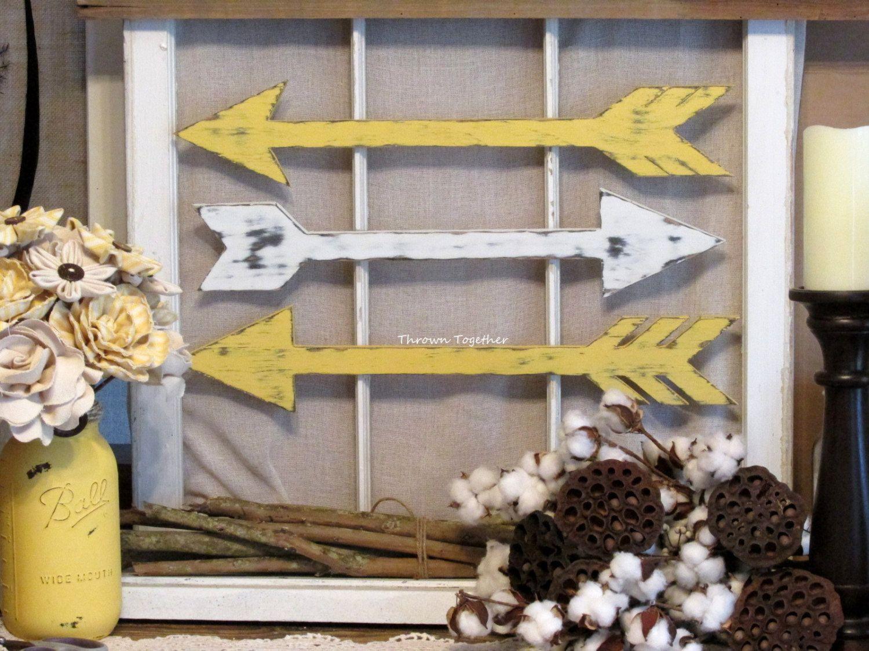 Wood arrow wall decor handmade arrows rustic arrow decor