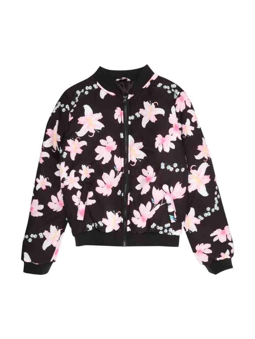 4ea4e7b40 Older Girls Floral Bomber Jacket
