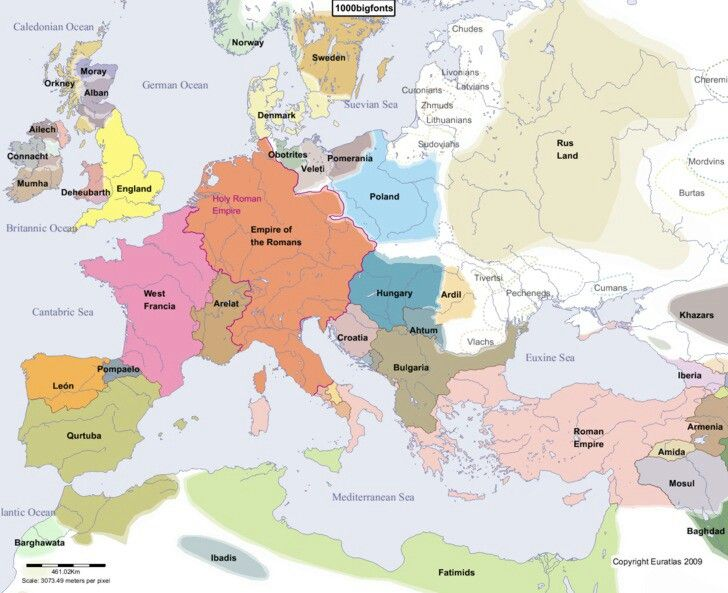 Europe In A D 1000 Historical Maps Map