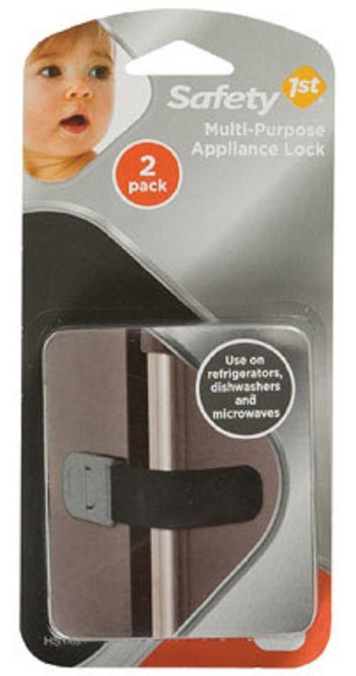 Black Safety 1St HS148 Multi-Purpose Appliance Lock 2-Pack