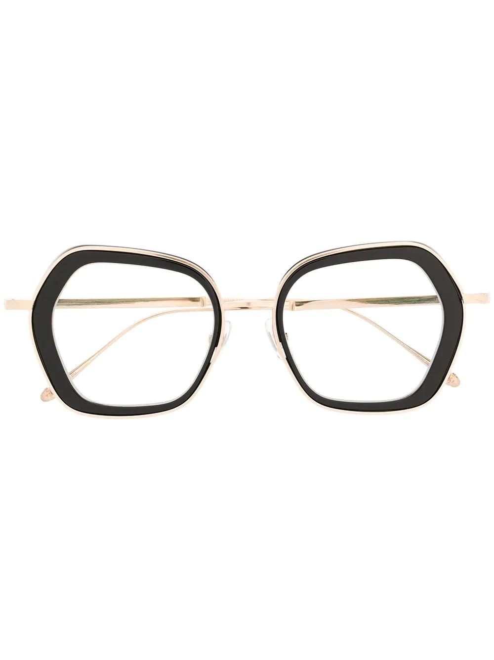 Matsuda Oversized Square Glasses Farfetch Square Glasses Glasses Matsuda