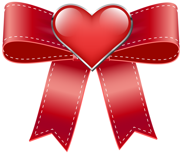 Red Bow With Heart Transparent Png Clip Art Image Clip Art Free Clip Art Valentines Clip