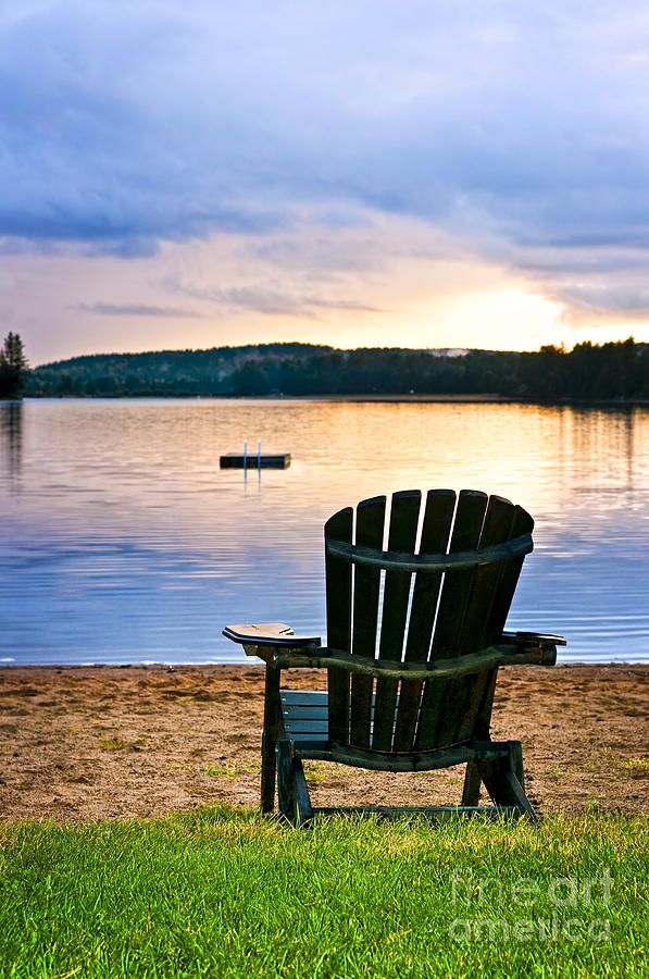 wooden chair at sunset on beach photograph wooden chair at sunset rh pinterest com