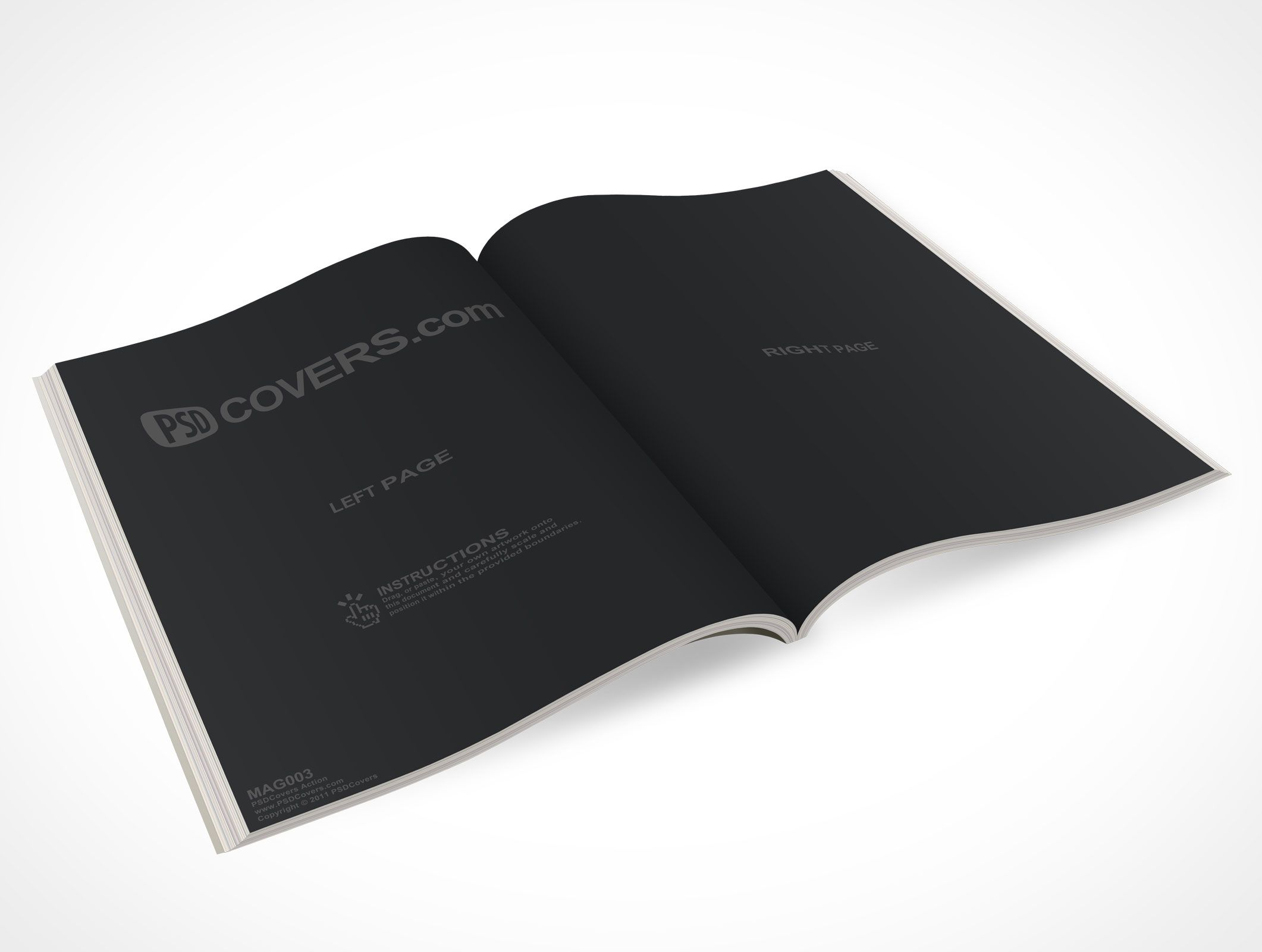 How To Make A Realistic Book Cover : Mag is top view ° angle shot of an open magazine the