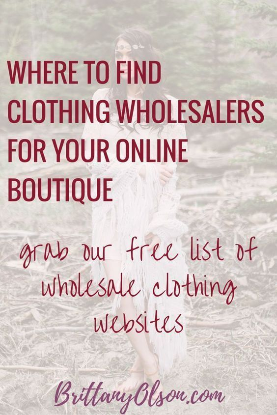 Find Wholesale Boutique Clothing 2018 - Free PDF | Online business ...
