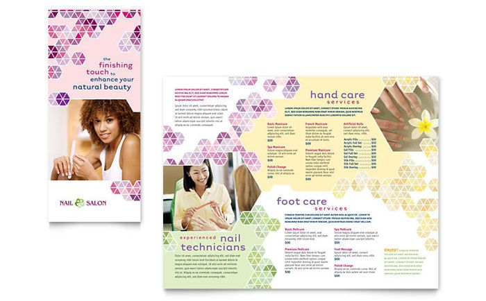 Nail Salon Brochure Design Template By Stocklayouts  Graphic