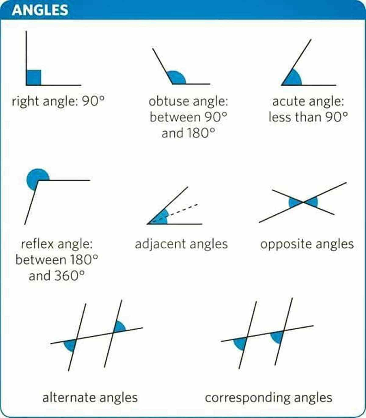 English Vocabulary Lines And Angles