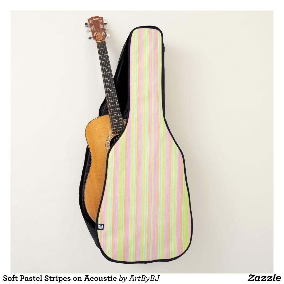 Soft Pastel Stripes On Acoustic Guitar Case Zazzle Com Guitar Case Acoustic Guitar Case Guitar