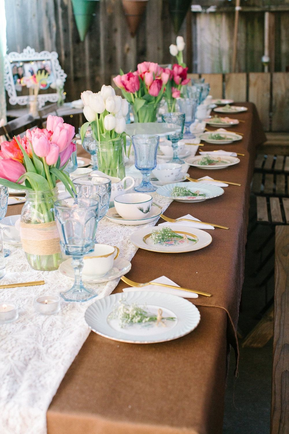 Beautiful Bridal Shower Tea Spring Party.
