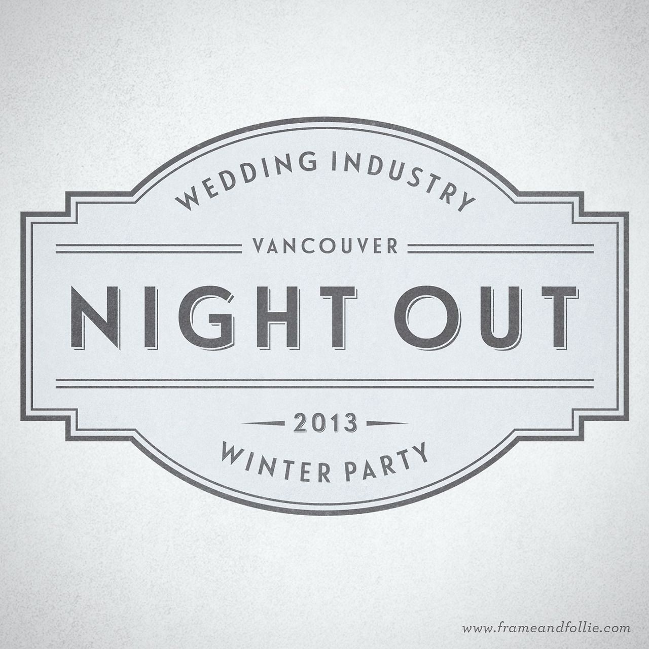 Wedding Industry Night Out | Vintage-inspired logo design by Frame & Follie | www.frameandfollie.tumblr.com | www.frameandfollie.com