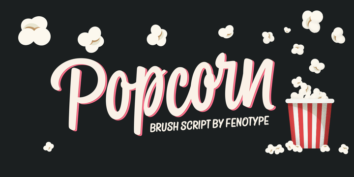 Download Popcorn Licensing « MyFonts Popcorn is a brush