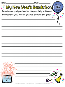 new years resolution writing template and lesson plan pinned by pediastaff please visit