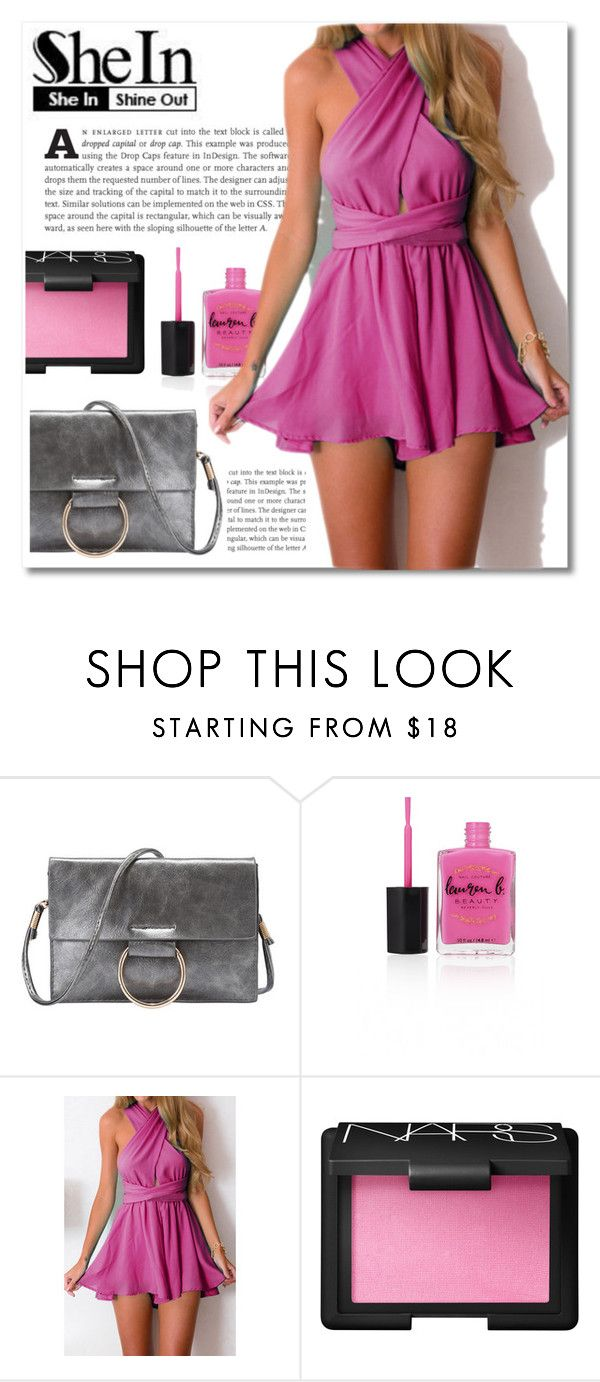 """""""She In, Shine Out: Pink"""" by montcastanon ❤ liked on Polyvore featuring Lauren B. Beauty and NARS Cosmetics"""