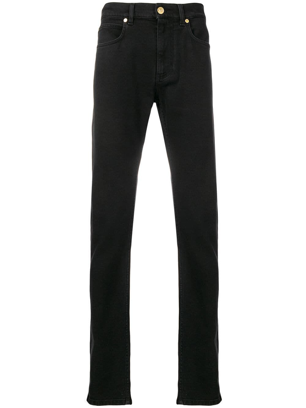 b10063bd109 VERSACE VERSACE STRAIGHT LEG JEANS - SCHWARZ. #versace #cloth ...