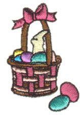 Pinnacle Embroidery Patterns Embroidery Design: Easter Basket 2.14 inches H x 1.44 inches W