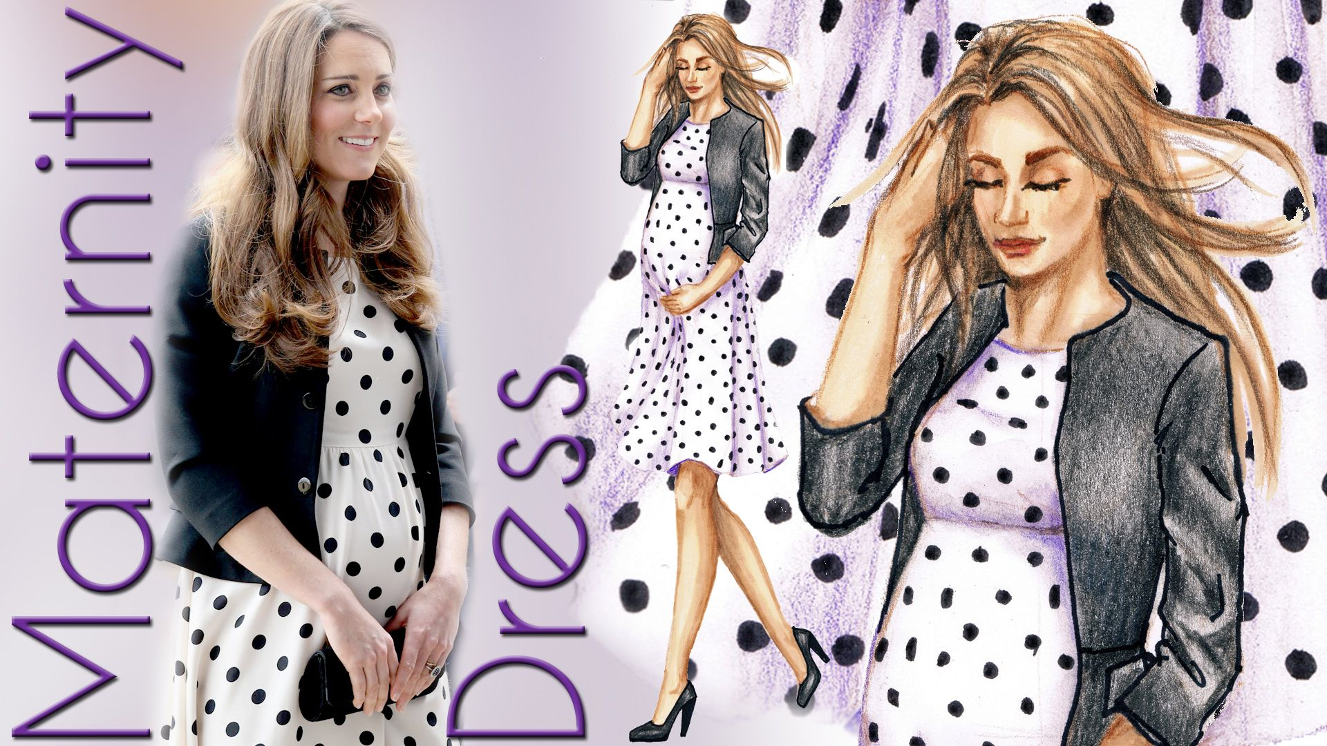 Its a boy kate middleton duchess of cambridge polka dot maternity kate middleton duchess of cambridge polka dot maternity dress fashion design drawing ombrellifo Gallery