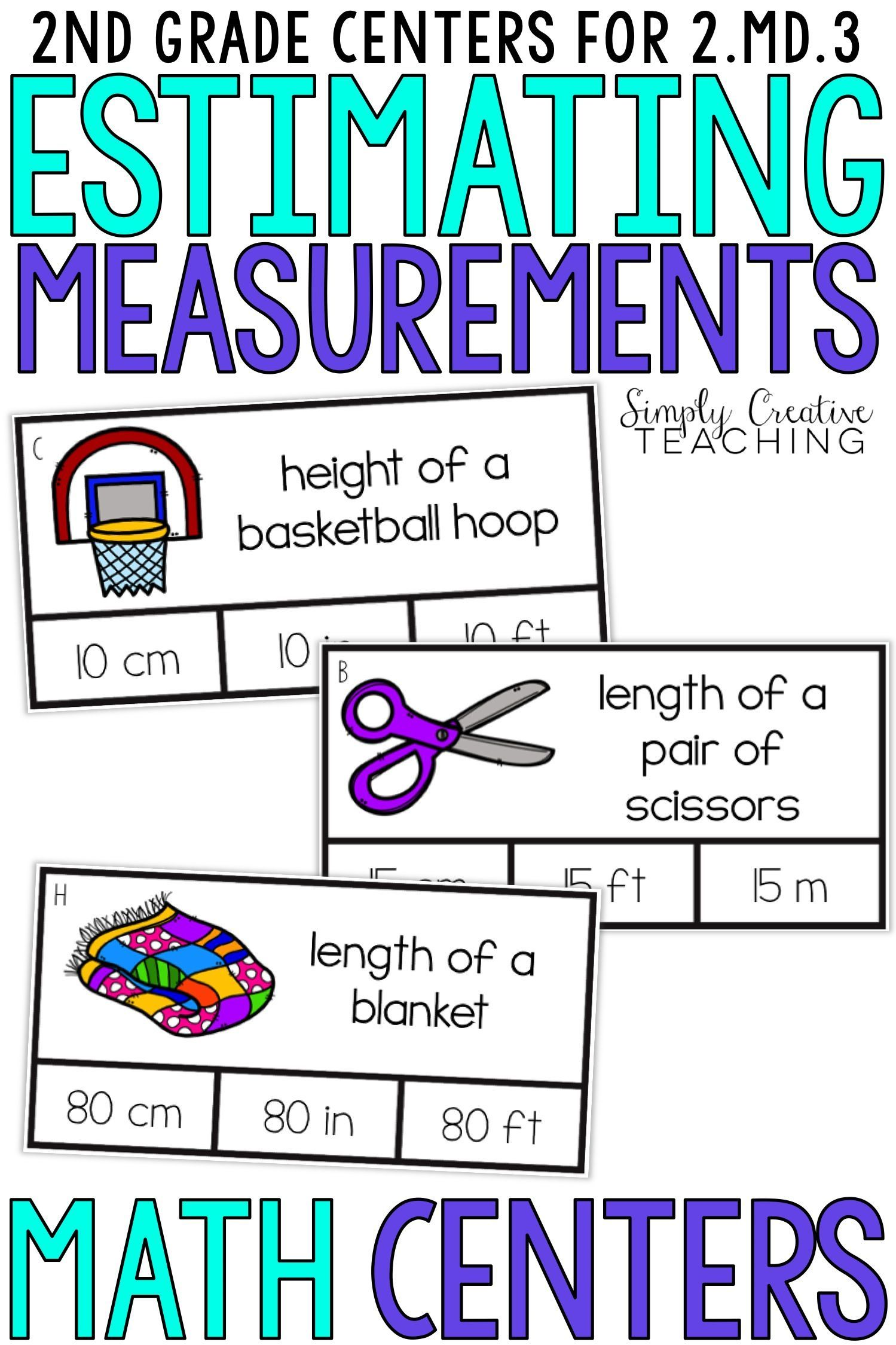 These second grade estimating measurement activities are for Common Core  standard 2.MD.3. St…   Math measurement activities [ 2249 x 1499 Pixel ]