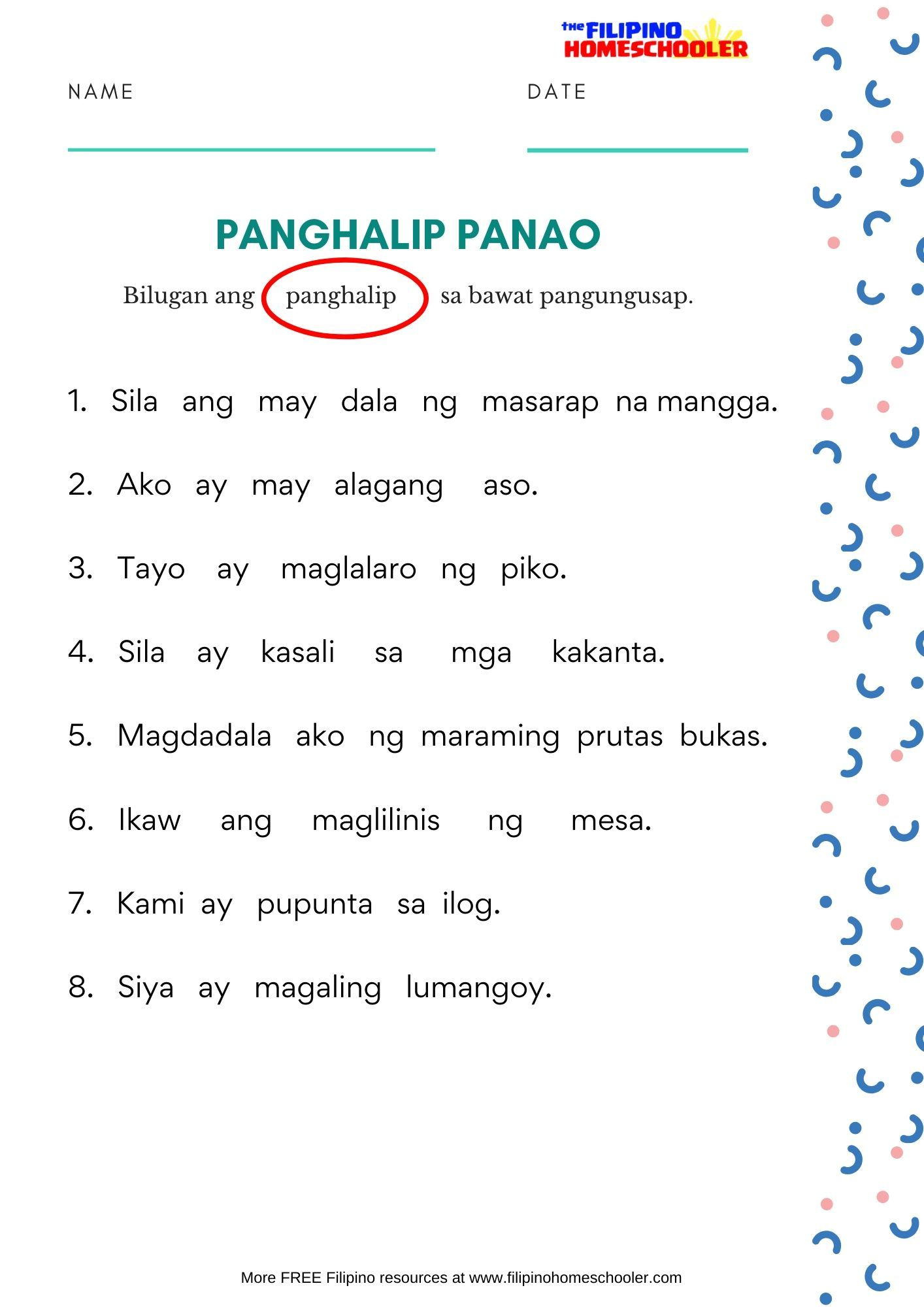 Pin On Free Filipino Worksheets