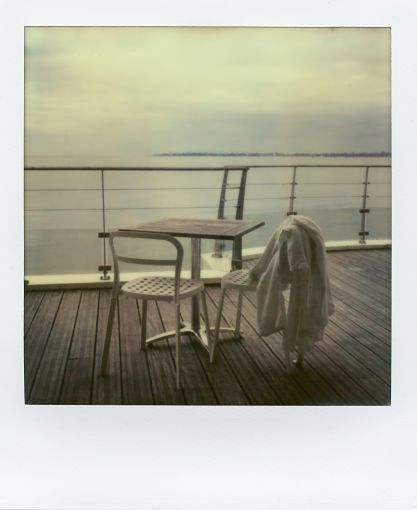 Impossible Project - staring at the sea with a polaroid in my hand