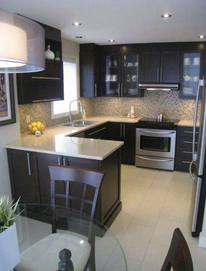 Cocina para ver la distribución similar al espacio de casa ...