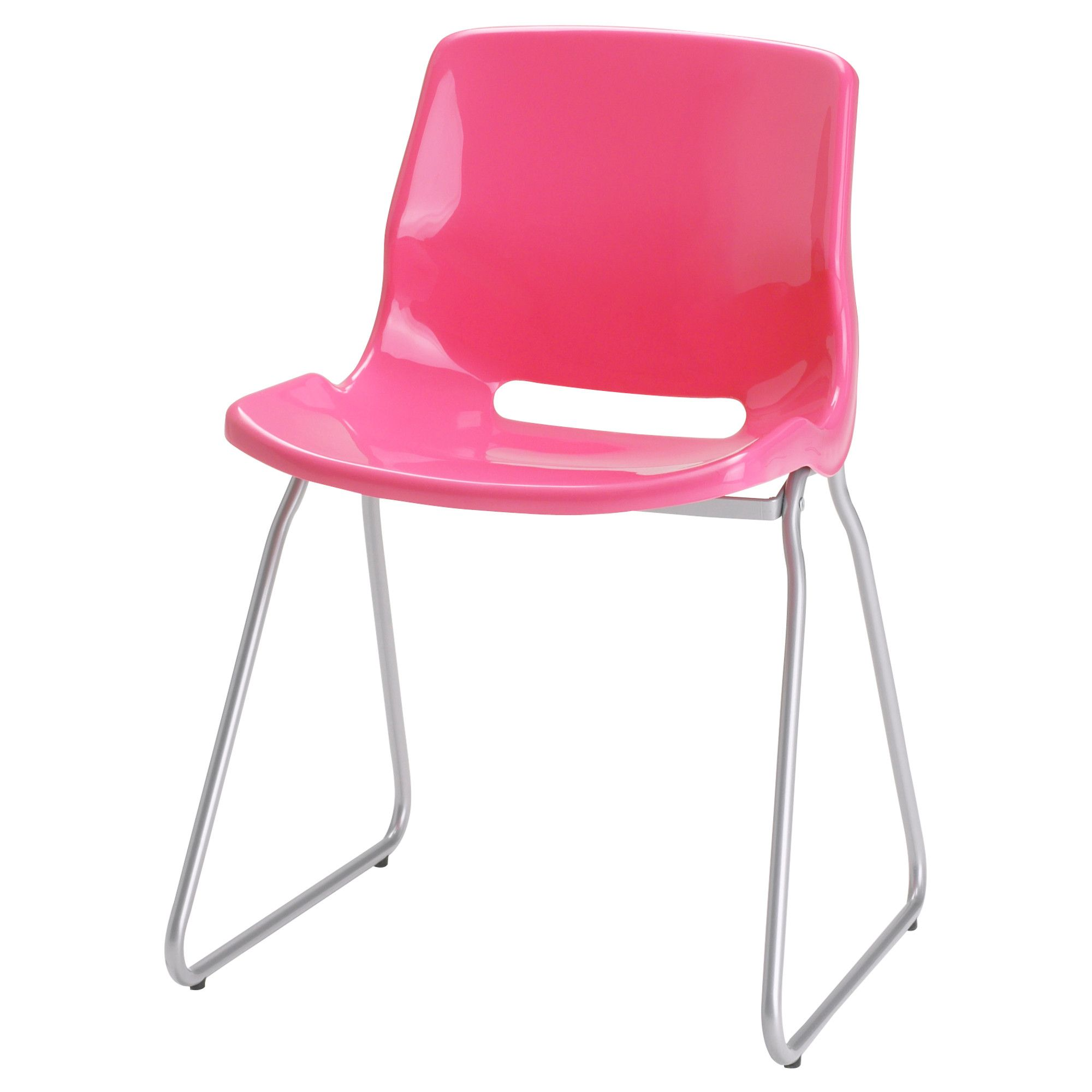 Ikea Modern Visitor Chair Pink Home Office New