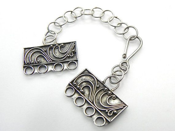 Sterling Silver Mulit Strand Clasp Sterling Silver Four ...