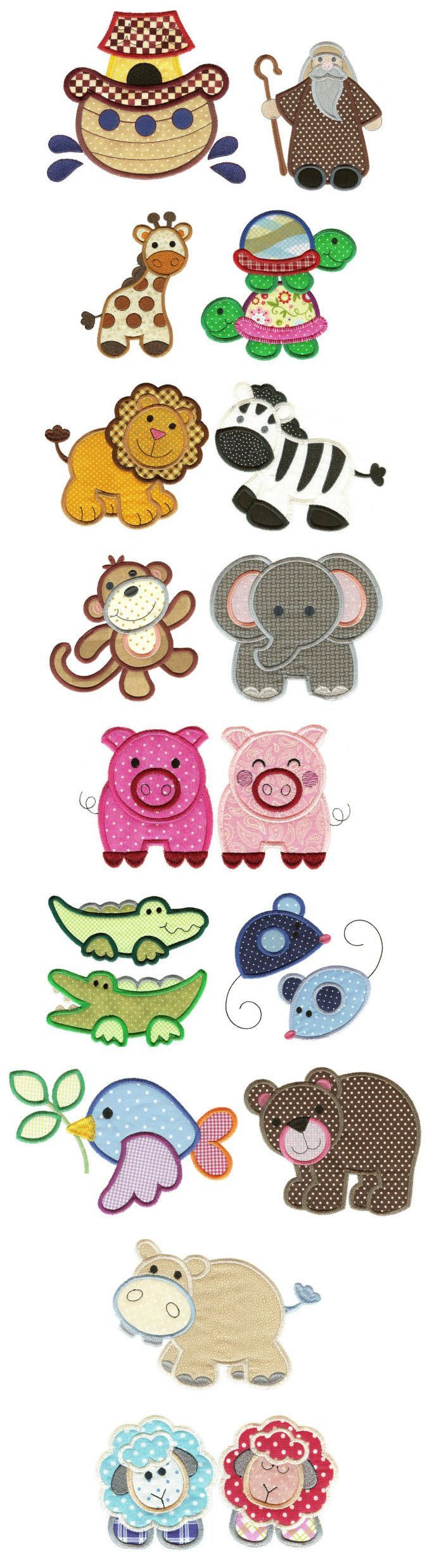 Embroidery | Free Machine Embroidery Designs | Noah and Friends Applique