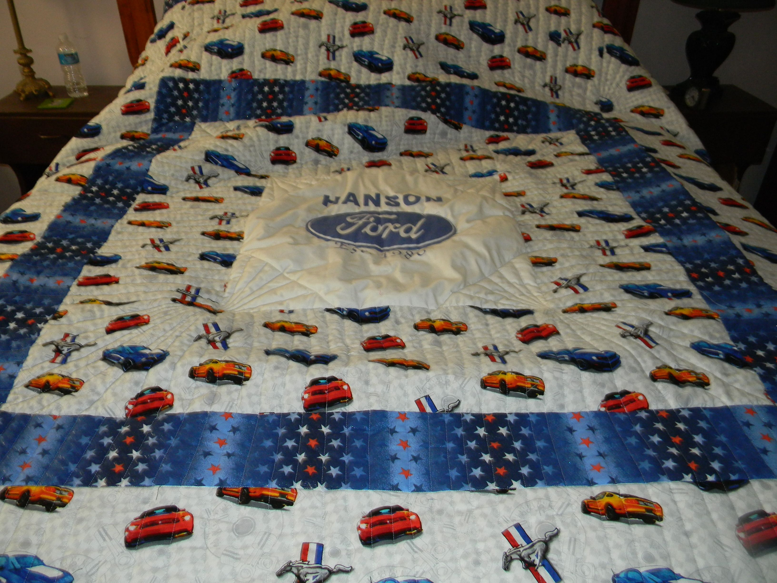 Ford mustang quilt