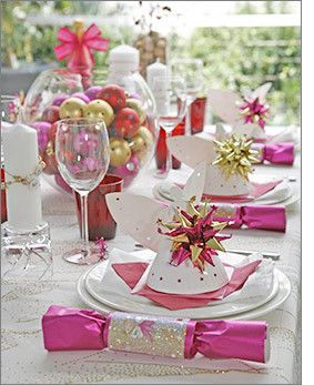 Pink Christmas Table Pink Christmas Table Christmas Table Decorations Pink Christmas