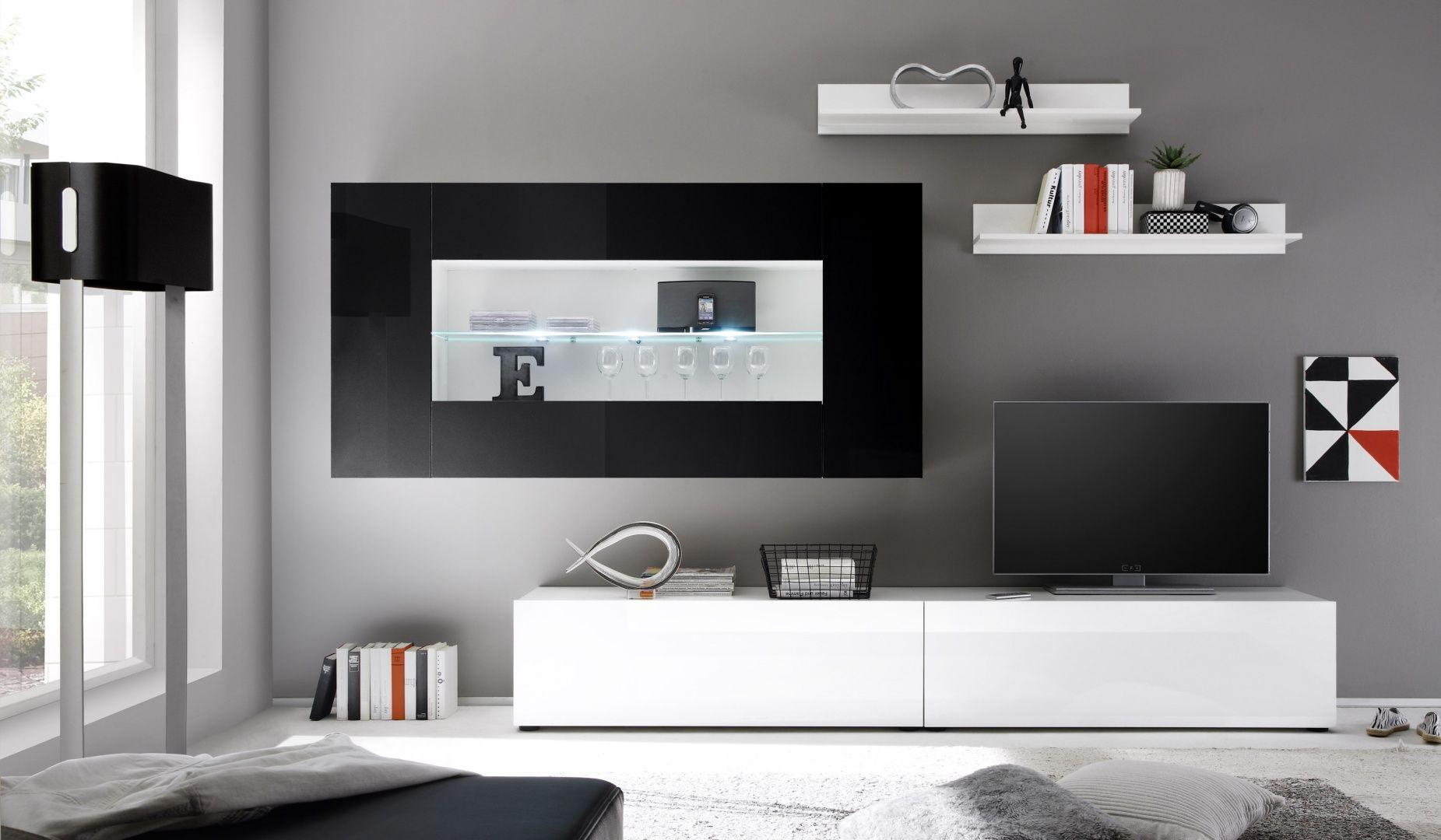 New Lowboards und Vitrinen mit Glasablagen Schubladen Beleuchtung und unterschiedlichen Farbkombinationen bei vladon de