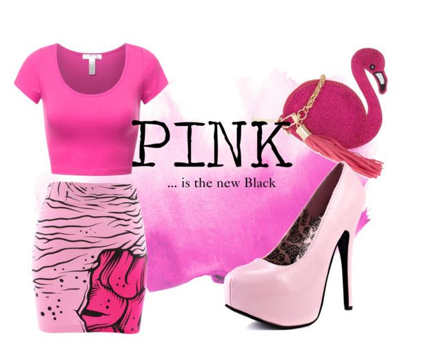 """""""PINK... is the new black"""" by shannonlee-hill on Polyvore featuring Iron Fist and Skinnydip"""
