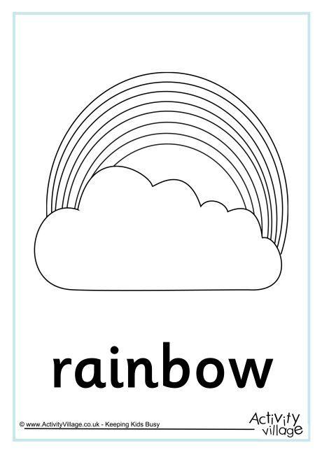 Rainbow colouring page 4 | Leren tekenen | Pinterest