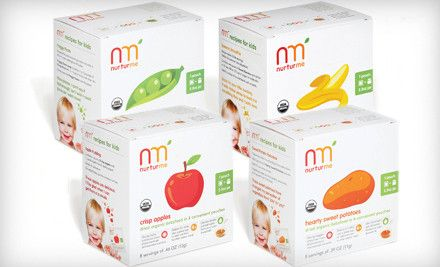 NurturMe Organic Baby Food - Convenient, recyclable pouches full of gluten-free, freeze-dried fruits and veggies.