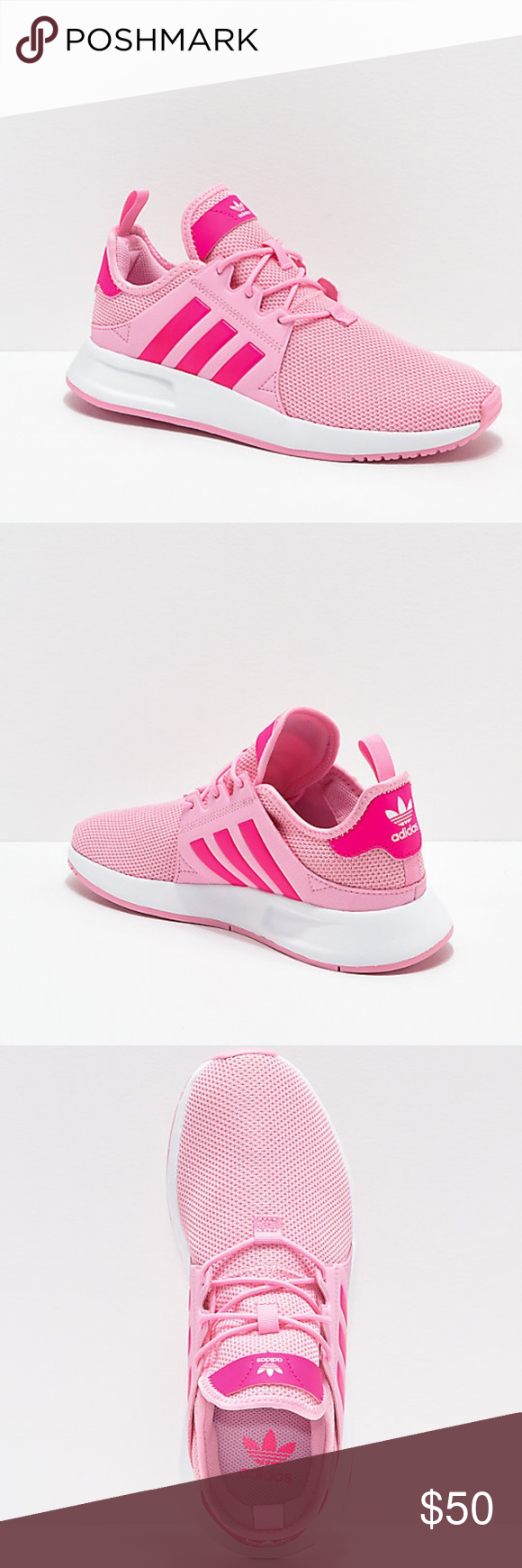 adidas Xplorer Pink \u0026 White Shoes