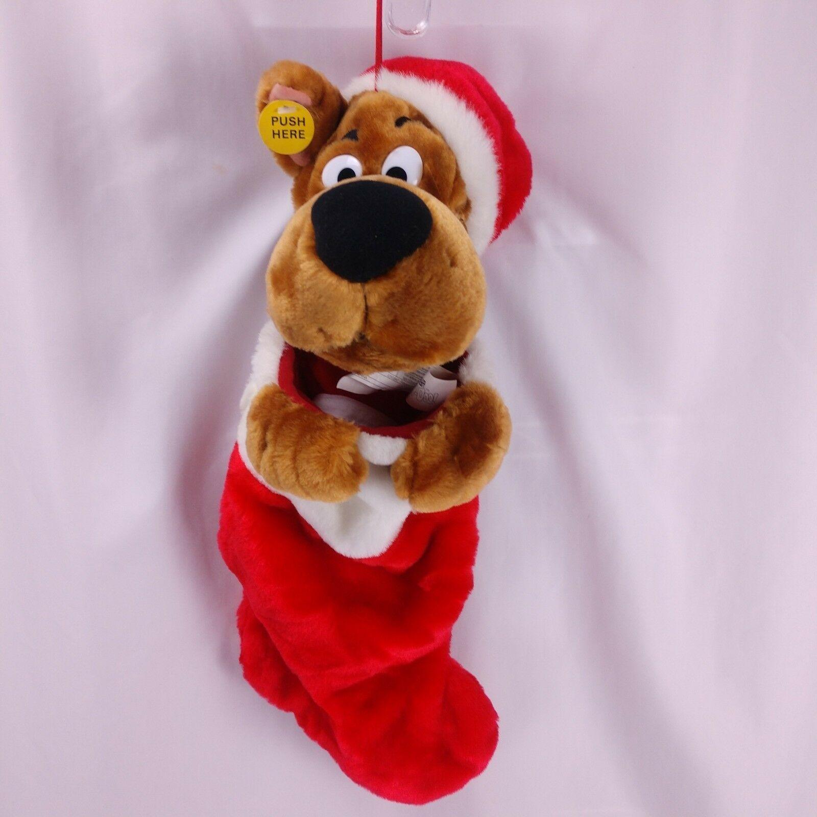 Gemmy Scooby Doo Singing Stocking Christmas Animated