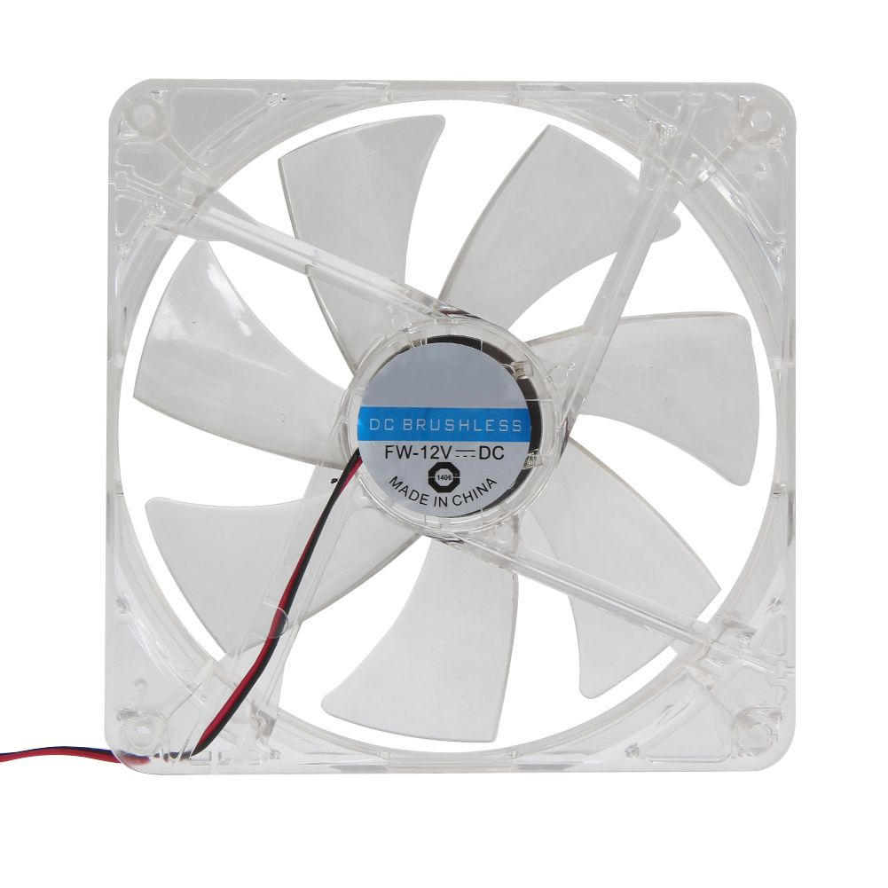 2017 New 14cm Pc Computer Clear Case Red Led Light 7 Blade Cpu Cooling Fan 12v 4pin Computer Pc Case Cooler Cpu Cooling Led Pc Cases Pc Computer Red Led Lights